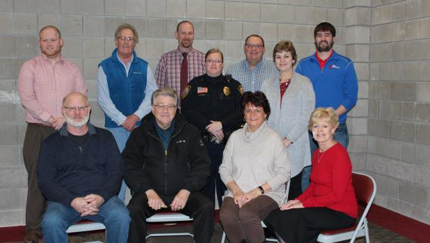 The Staples Motley Area Community Foundation board held their reorganizational meeting Jan. 9, electing officers, welcoming new board members and assigning committees. Ron Denning, Jason Hoyt and John Regan were welcomed as new members. Chris Trout was elected chair, Regan is vice chair, Mike Gold is treasurer and Joe Roline is secretary.  Seated, from left, are Gold, John Wolak, Barb Markus and Mary Jo Hofer. Standing, from left, are Hoyt, Ray Gildow, Regan, Melissa Birkholtz, Denning, Trout and Roline. De