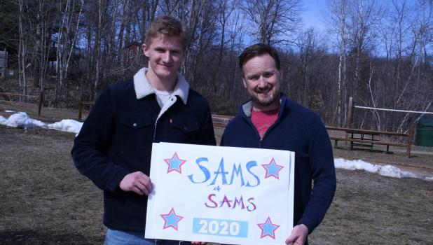 Brian Sams (right) and his son Cael Sams of Cushing have entered the race for the 2020 United States Presidency. They are running as part of the Bull Moose party, of which they emerged as the top (and only) candidates at the party's April primary. The Sams/Sams ticket hit the trail early last week, with a rally planned April 4, at the Lincoln Gas & Bait's parking lot.