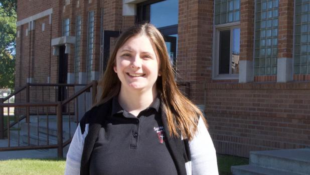 Sara Kriefall is the new interim principal at Sacred Heart Area School in Staples. (Staples World photo by Mark Anderson)