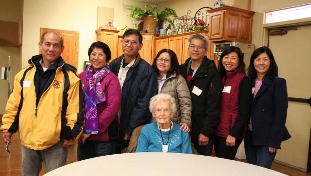 Members of the Tu family, all now of California, returned recently to visit Staples, the first American town they called 'home,' as well as Faith Lutheran Church, the organization that sponsored them in 1979 as they fled Communist Vietnam. Their visit came about after learning Alice Sather (above, seated), one of the first people they met upon arriving in Staples and a woman who would become a dear family friend, celebrated her 100th birthday this past May. The siblings felt it was important that all seven