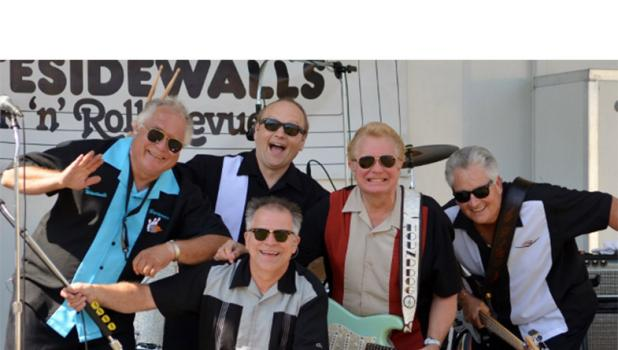The Whitesidewalls will perform at Timbers Event Center in Staples Saturday, March 3, at 7 p.m. Pictured from left, back row: David 'Swanee' Swanson, Erik 'Rocky Beaumont' Swenson, Pat 'Hound Dog' Brown, Bill 'Bobby Maestro' Spalding; and in front, Brad 'Gino Gambucci' Nelson. The concert is sponsored by the Staples Motley Area Arts Council. (Submitted photo)