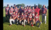 Babe Ruth 13U team after a game this season. Front row from left, Logan Martin, Wesley Parker, Jack Carlson, Griffen Bettis, Dylan Lawrence; middle row, Hayden Rutherford, Carson Trantina, Andrew Salcido, Eli Smith, Kevin Miller, Brayden Salcido and Ben Tyrrell; back row, coaches JR Bettis, Brian Smith, Corey Lawrence and Jim Tyrrell.  Not pictured: Hayden Rychner. They play their first state tournament game Thursday, July 18. (Submitted photo)